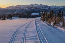 Zimowe Tatry, widok z Rzepisk (droga)
